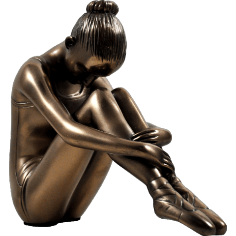 Cold Cast Bronze Ballerina Sculpture - Preparing the Mind